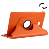 For Samsung Galaxy Tab A 10.1 / T580 Litchi Texture Horizontal Flip 360 Degrees Rotation Leather Case with Holder (Orange)