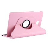 For Samsung Galaxy Tab A 10.1 / T580 Litchi Texture Horizontal Flip 360 Degrees Rotation Leather Case with Holder (Pink)