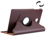 For Samsung Galaxy Tab A 10.1 / T580 Litchi Texture Horizontal Flip 360 Degrees Rotation Leather Case with Holder (Brown)
