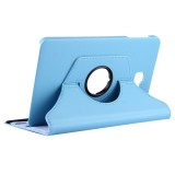 For Samsung Galaxy Tab A 10.1 / T580 Litchi Texture Horizontal Flip 360 Degrees Rotation Leather Case with Holder (Blue)