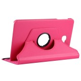 For Samsung Galaxy Tab A 10.1 / T580 Litchi Texture Horizontal Flip 360 Degrees Rotation Leather Case with Holder (Magenta)