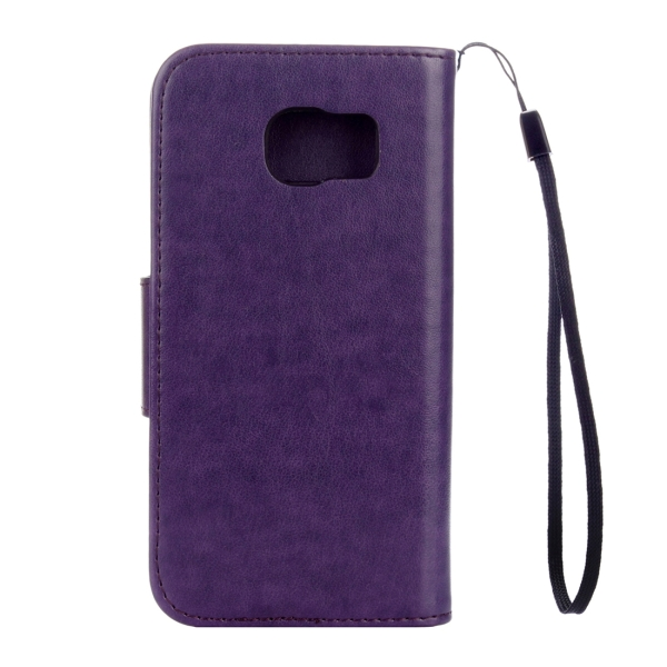 detailed look 7f8b5 e497f For Samsung Galaxy S7 Active Pressed Flowers Butterfly Pattern Horizontal  Flip Leather Case with Holder & Card Slots & Wallet & Lanyard (Purple)