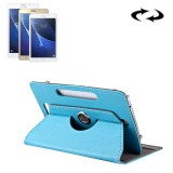 7 inch Tablets Leather Case Crazy Horse Texture 360 Degrees Rotation Protective Case Shell with Holder for Samsung Galaxy Tab A 7.0 (2016) / T280 & Tab 4 7.0 / T230 & Tab Q T2558, Colorfly G708, Asus ZenPad 7.0 Z370CG, Huawei MediaPad T1 7.0 / T1-701u (Baby Blue)