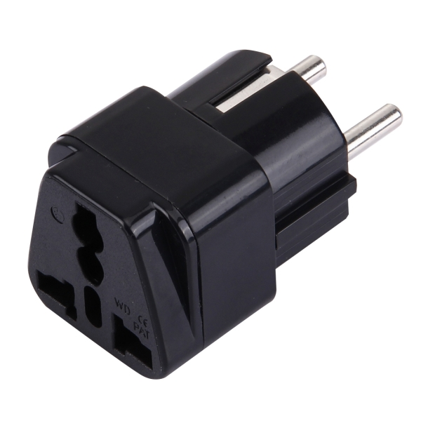 Wd 9 Portable Universal Plug To French German Eu Plug Adapter Power Socket Travel Converter