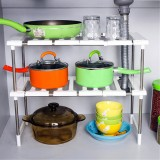 Superposition Shelf Multilayer Foldable Storage Racks Kitchen Shelving Holders Multiuse Organizer