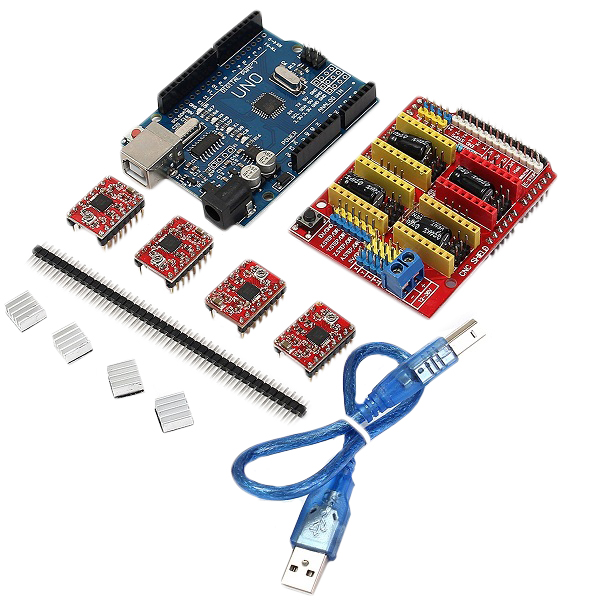 Cnc shield uno r board xa driver kit with heatsink