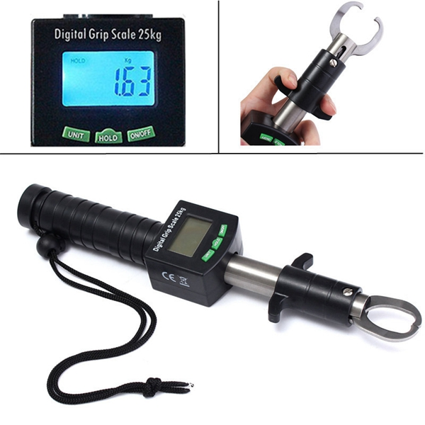 Electronic control device fish lip tackle gripper grab for Fish weight scale