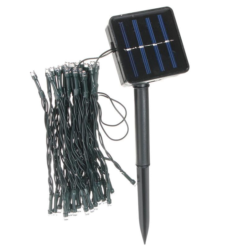 outdoor solar powered 5 2m 50 led fairy string light yard garden path
