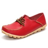 Women Flat Shoes Outdoor Lace Up Round Toe Soft Comfortable Casual Loafers
