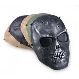 Outdoor Tactical Military CS Protection Mask Full Face Guard Wargame Airsoft Paintball Skull Mask