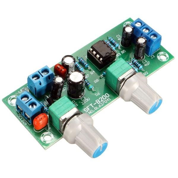 DC 12V-24V Low-pass Filter NE5532 Subwoofer Pre-Amplifier ...