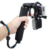 TMC HR391 Shutter Trigger Floating Hand Grip / Diving Surfing Buoyancy Stick with Adjustable Anti-lost Hand Strap for GoPro HERO4 /3+ /3, Xiaomi Xiaoyi Sport Camera (Black)