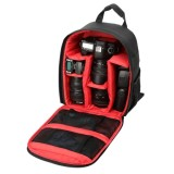 DL-B028 Portable Casual Style Waterproof Scratch-proof Outdoor Sports Backpack SLR Camera Bag Phone Bag for GoPro, SJCAM, Nikon, Canon, Xiaomi Xiaoyi YI, iPad, Apple, Samsung, Huawei, Size: 27.5 * 12.5 * 34 cm (Red)