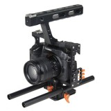 YELANGU YLG0904A-C Handle Video Camera Cage Stabilizer for Panasonic Lumix DMC-GH4 / Sony A7 & A7S & A7R & A7RII & A7SII (Orange)