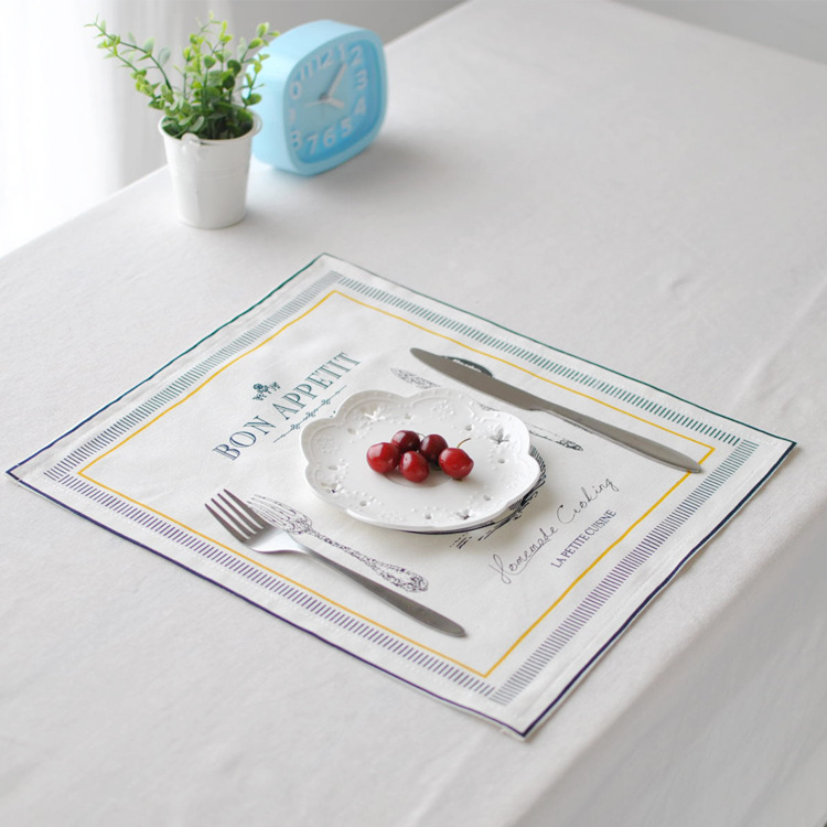 30x32cm Soft Cotton Linen Tableware Mat Table Runner Heat Insulation Bowl Pad Tablecloth Desk Cover