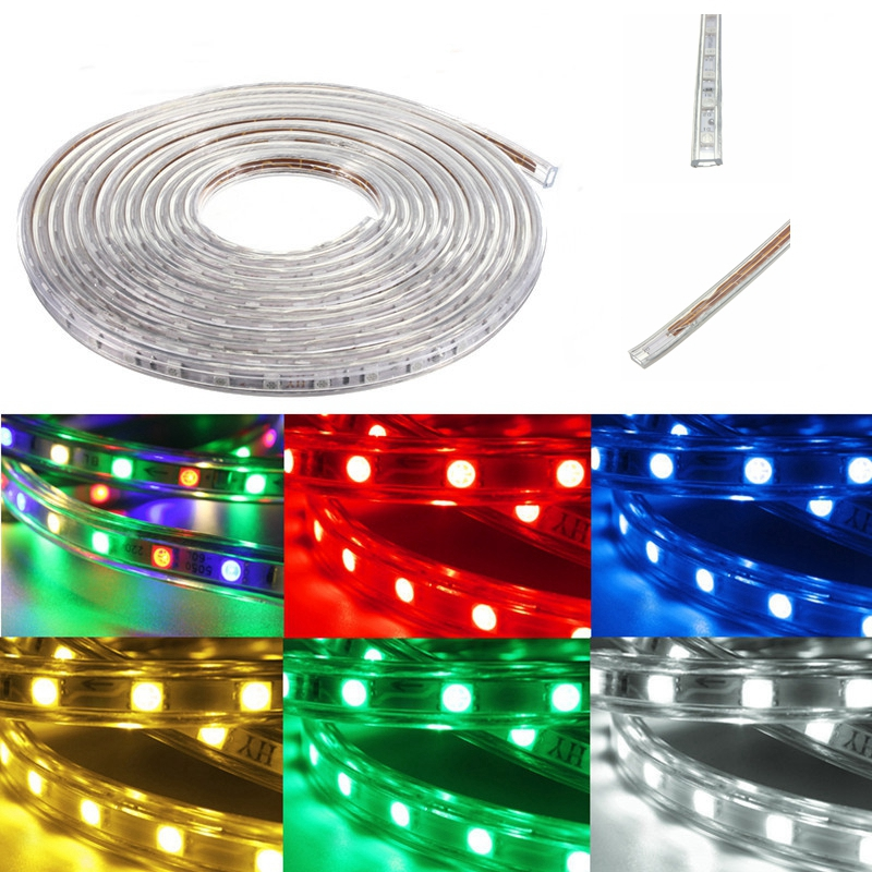 20m 5050 led smd outdoor waterproof flexible tape rope. Black Bedroom Furniture Sets. Home Design Ideas
