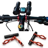 Bicycle Bike Double Handlebar Extension Mount Carbon Fiber Extender Light Holder For Extended 31.8MM