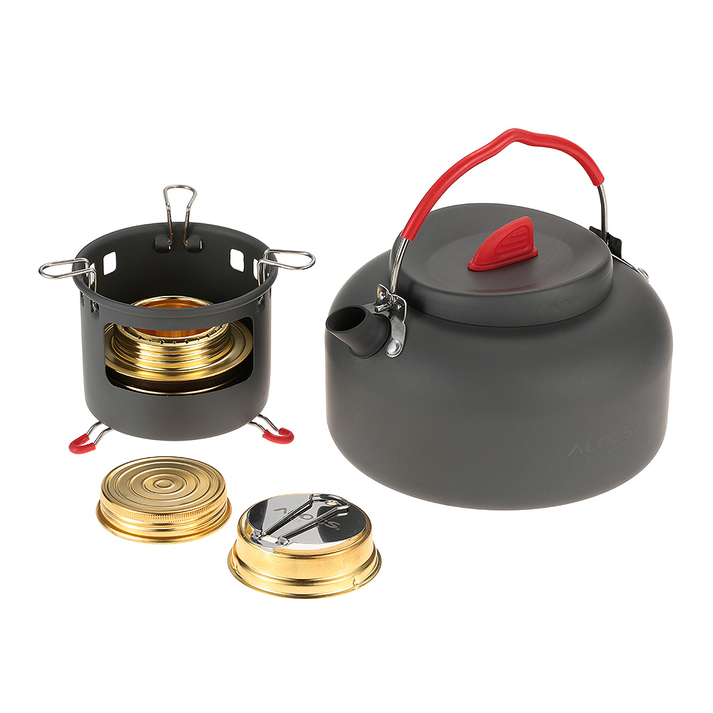 Outdoor Cooking Stove Burner Set With Water Kettle Teapot ...