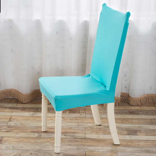 Elegant Fabric Solid Color Stretch Chair Seat Cover