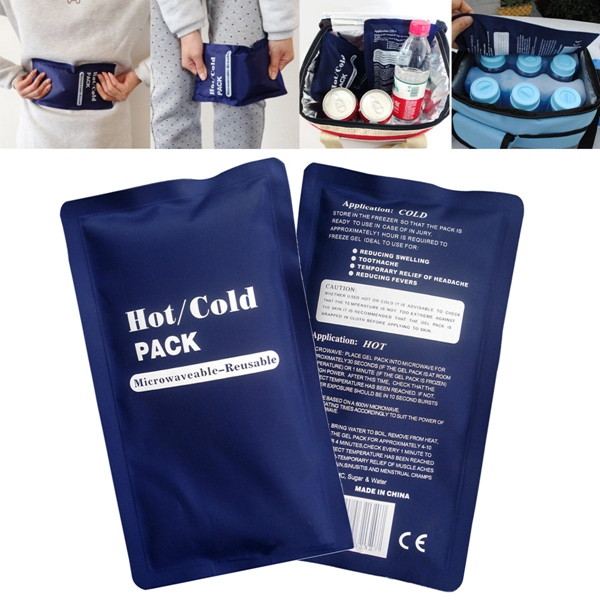 Reusable Ice Hot Cold Heat Pad Pack Muscle Back Pain ...