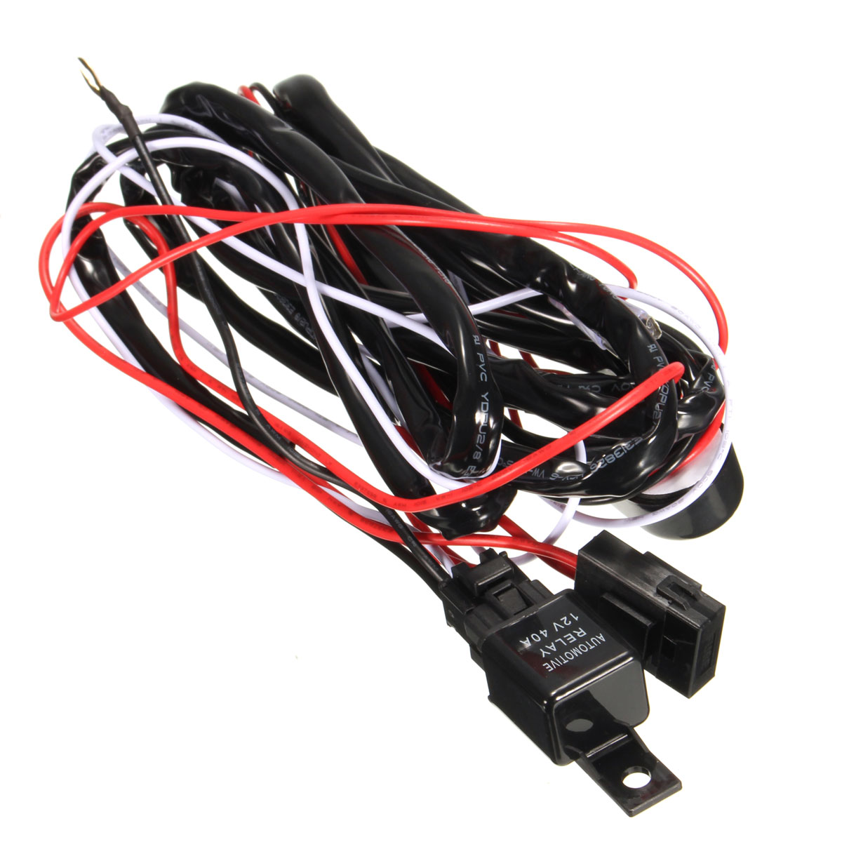 25m Led Work Light Bar Switch Wiring Harness Kit Loom W 40a Relay Find This Product Under 12v Dc Hid Fuse Wire