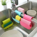 Creative Kitchen Sink Sponge Storage Bag Drain Saddle Dual Drain Basket Racks Sundries Organizer