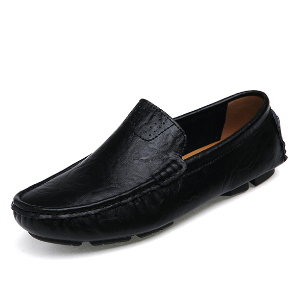 US Size 6.5-12 Men Flat Casual Outdoor Leather Soft Comfortable Flats Loafers Shoes