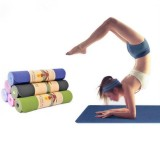 TPE Bicolor 6mm Yoga Mat Outdoor Fitness Sport Anti-skid Pad Odorless Body Building Yoga Mat