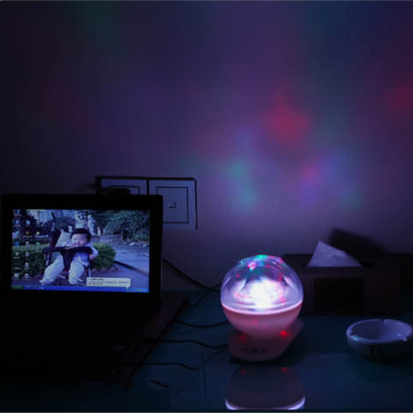 ColorDiamond Polar Light Projector Multicolored Light With Sound Romantic Lam