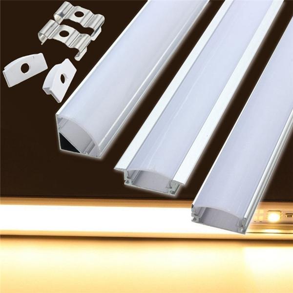 50cm Aluminum Channel Holder For Led Strip Light Bar Under