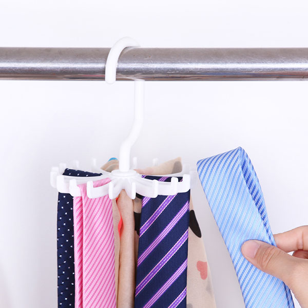 360° Roble Tie Hanger Rack Adjustable Neck Ties Silk Scarf Storage Holder FI