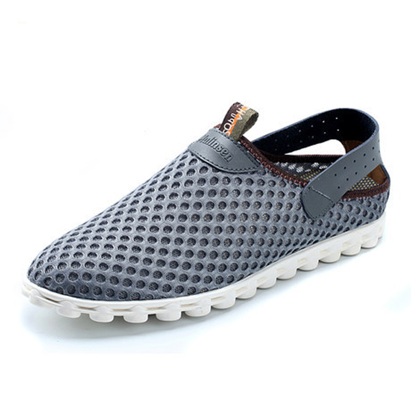 breathable mesh athletic shoes slip on outdoor sport
