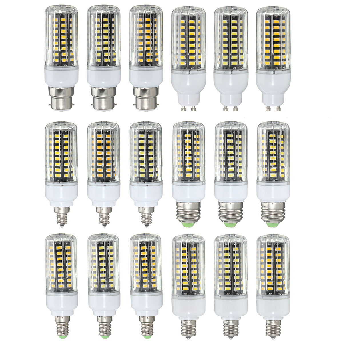 e27 e14 e12 e17 gu10 b22 led corn bulb 7w 72 smd 5736 led lamp ampoule led light ac85 265v. Black Bedroom Furniture Sets. Home Design Ideas