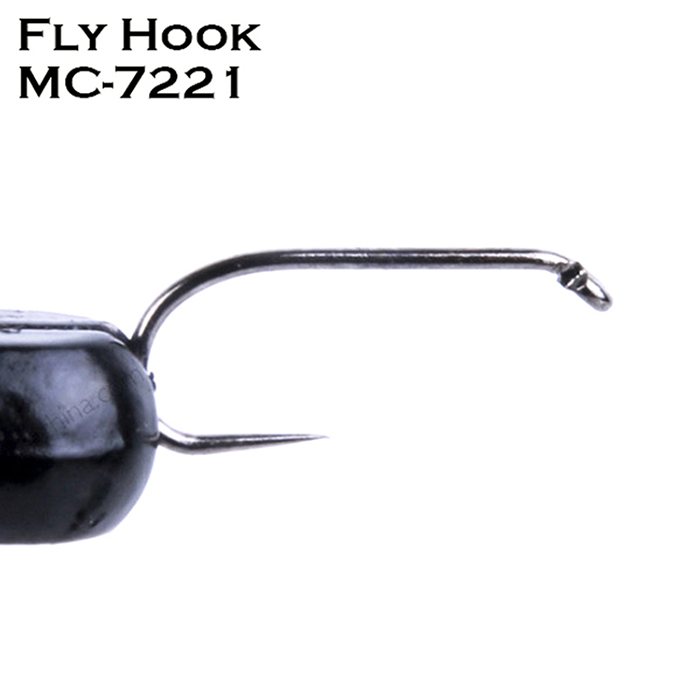 MAXCATCH 25Pcs/Box Barbless Fly Hooks For Fishing 5 Kinds of Models 3 Sizes