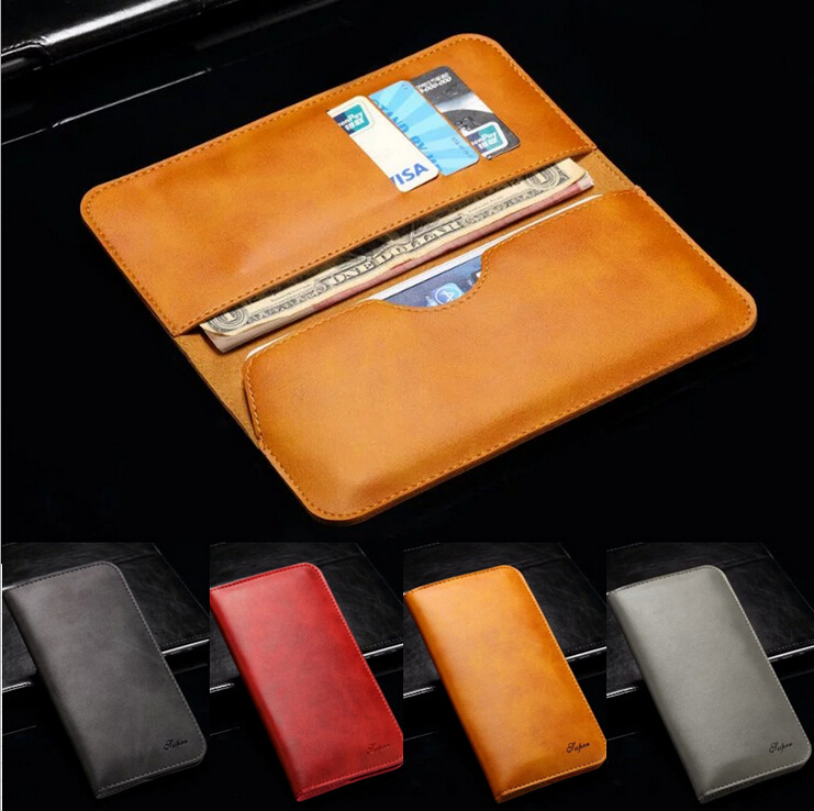 Dual Pocket Business Leather Clutch Bag Card Case Purse For iPhone 5 ...