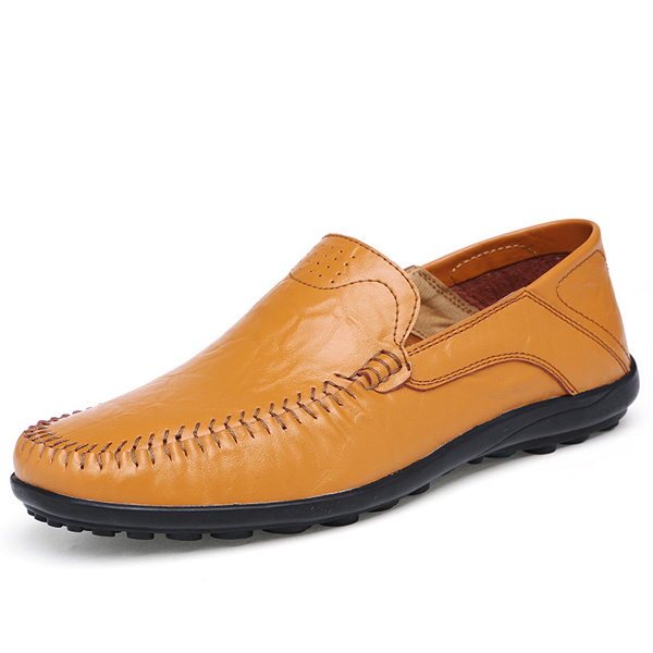 big size slip on leather formal shoes soft sole business