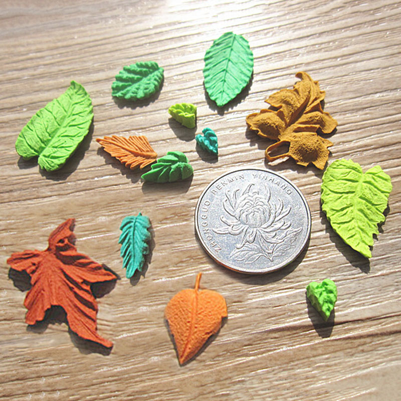 Leaves Set Fondant Cake Mold Chocolate Mold Kitchen Baking Silicone Sugar Decoration Cake Tool
