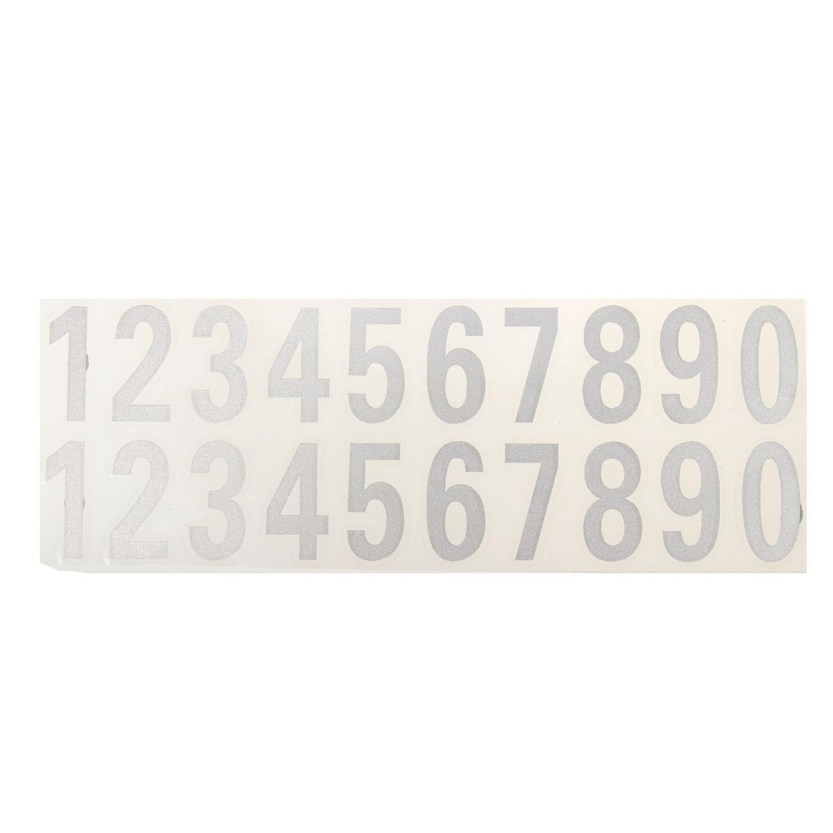 Number Reflective Sticker Car Vinyl Decal Street Address Mailbox Number Stickers White Black