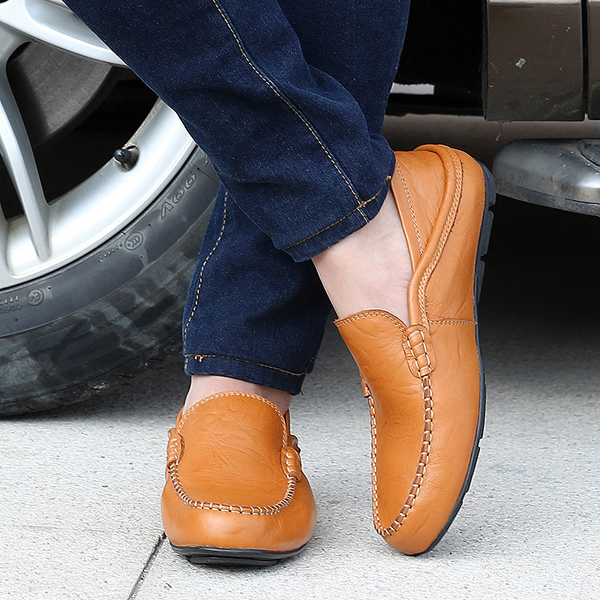 Mens Leather Formal Slip On Shoes