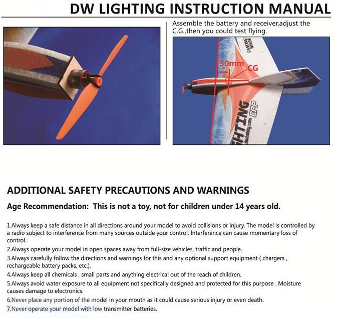 Brand Name Dw Hobby Item Lighting Flying Wing Wingspan 1060mm Length 550mm Weight About 230 280g Propeller Gws 7035
