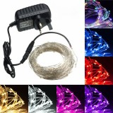 20M LED Silver Wire Fairy String Light Christmas Xmas Wedding Party Lamp 12V