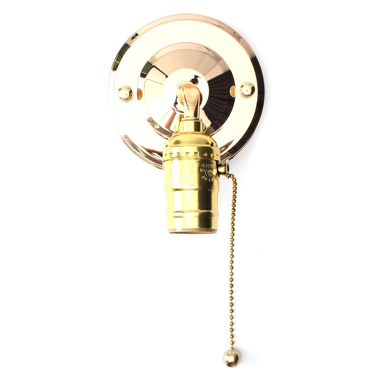 E27 Antique Vintage Wall Light Chain Design Sconce Lamp Bulb Socket Holder Fixture Alex NLD