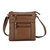 Women Multilayer Zipper Pockets Messenger Bags Casual Shoulder Bags Crossbody Bags