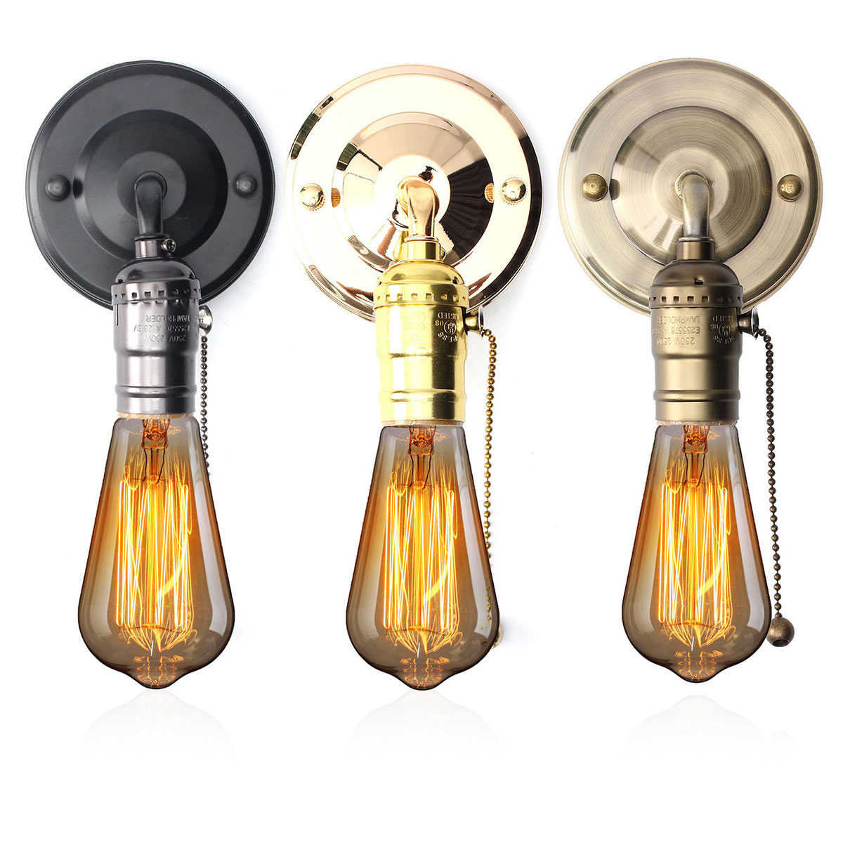 Wall Light Lamp Design: E27 Antique Vintage Wall Light Chain Design Sconce Lamp