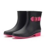 Women Rain Boot Casual Waterproof Non-Slip Slip On Ankle Short Boots