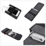 Power Bank Mouse USB Cable Digital Accessories Felt Storage bag