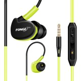 FONGE S500 Sport Stereo Bass 3.5mm In-ear Earphone Running Waterproof Sweatproof with Mic Headset