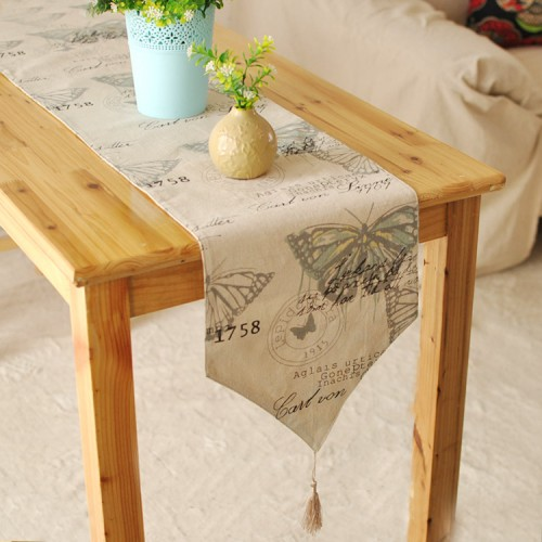 England Style Cotton Linen Tableware Mat Table Runner Tablecloth Desk Cover Heat Insulation Bowl Pad