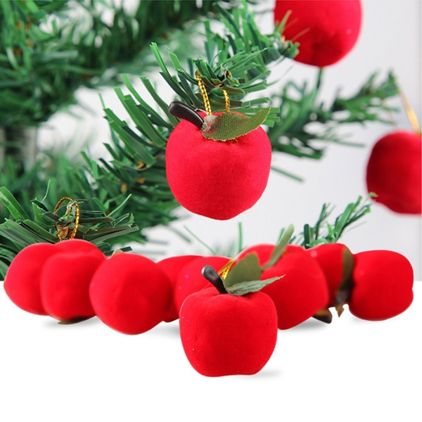 12 pcs christmas tree decoration red apple hang ornament for Apple tree decoration