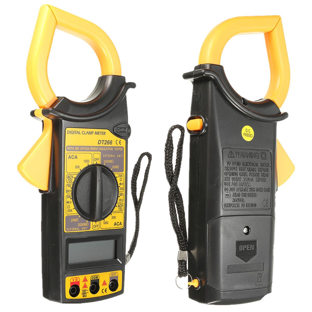 Dt266 Electronic Digital Clamp Meter Multimeter Ac Dc